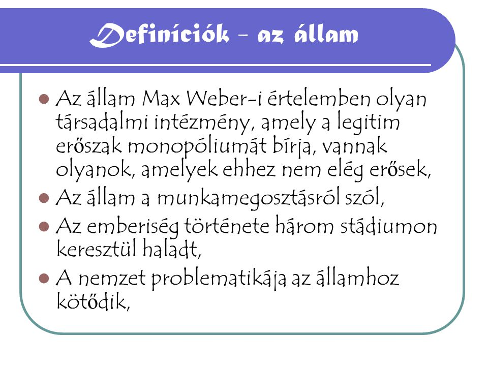 2.Az irredentizmus 3.