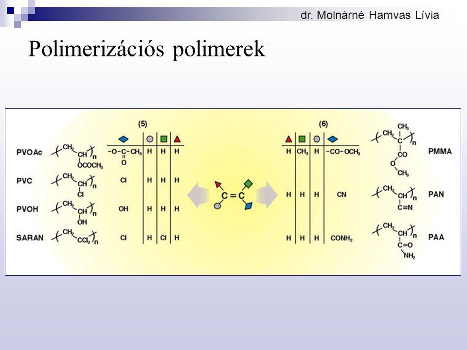 dr. Molnárné Hamvas Lívia Polimerizációs polimerek