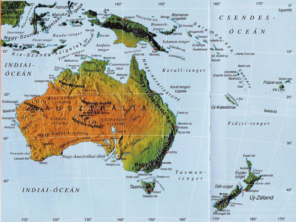 A Notogea természeti képe: Ausztrália középső és nyugati része: sivatag, félsivatag (régen erdős terület volt).
