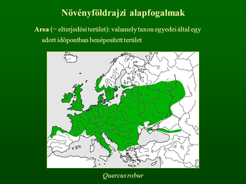Areát meghatározó tényezők: Ökológiai igények Migrációs képességek Kompetíciós képességek Fajkeletkezés helye, ideje Akadályok