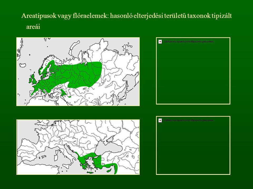 Reliktumok (maradványnövények): korábbi vegetációtörténeti korszakokból valamely területen megmaradt növények (pl.
