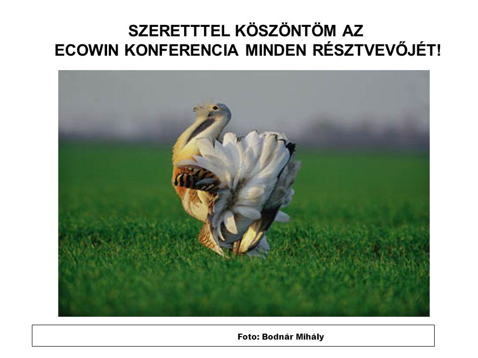 Foto: Bodnár Mihály SZERETTTEL KÖSZÖNTÖM AZ ECOWIN KONFERENCIA MINDEN RÉSZTVEVŐJÉT!