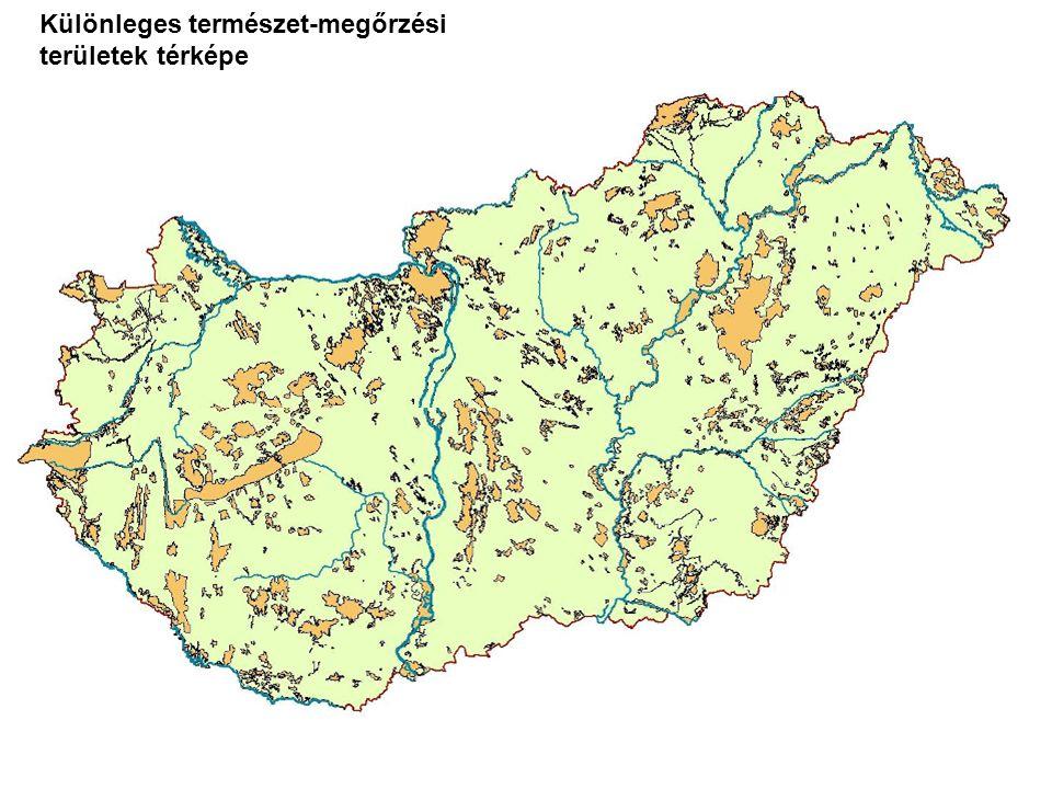 Különleges természet-megőrzési területek térképe