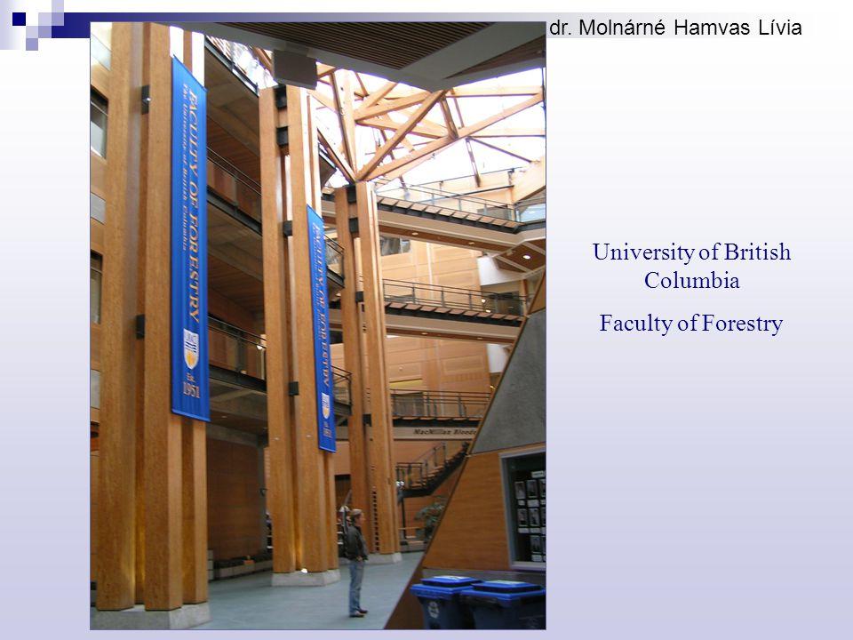 dr. Molnárné Hamvas Lívia University of British Columbia Faculty of Forestry