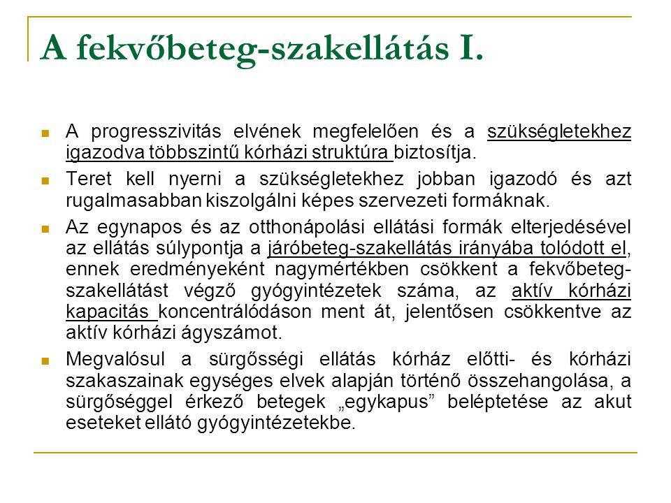 A fekvőbeteg-szakellátás I.