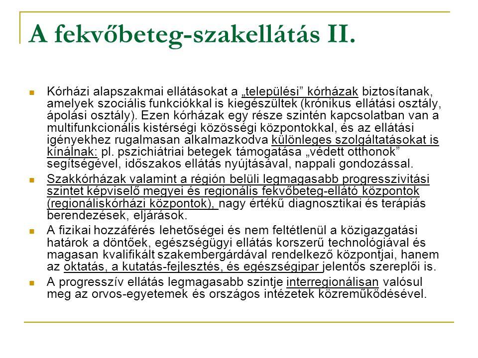 A fekvőbeteg-szakellátás II.