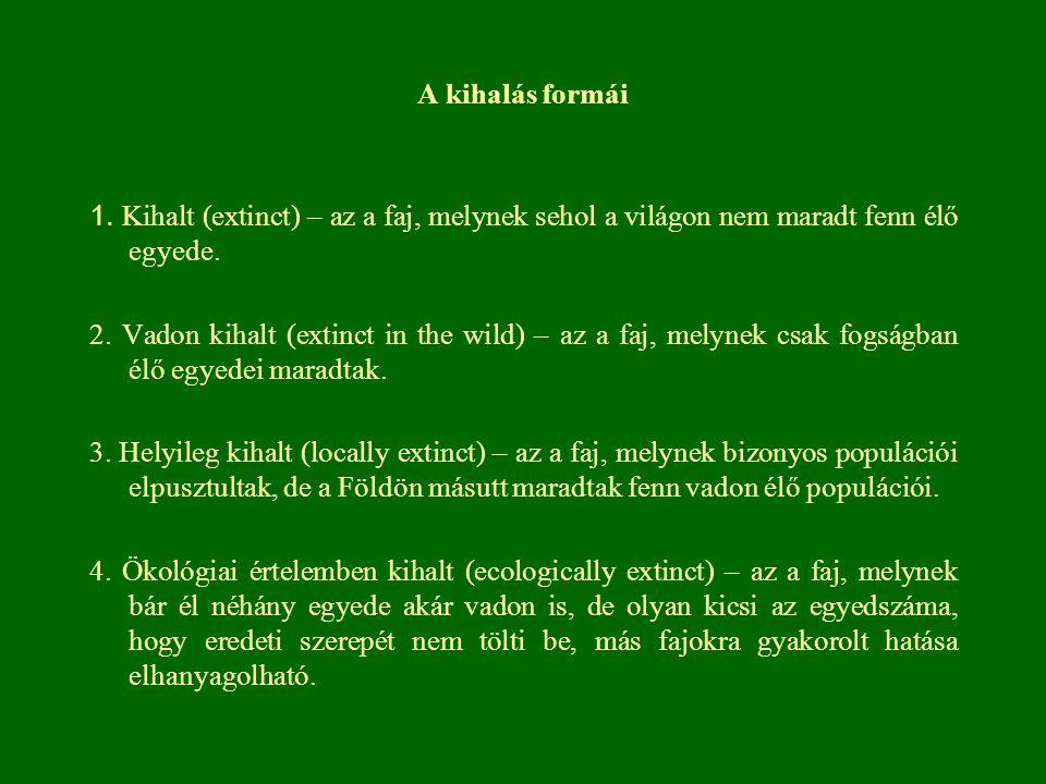 Bennszülött elemek a Kárpát-medencében Edényes növények 2% pannóniai bennszülött Mo-on 1,5% kárpáti (szub)endemizmus 9,1% bennszülött faj történelmi Magyarország területén