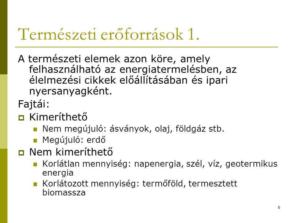 6 Természeti erőforrások 1.