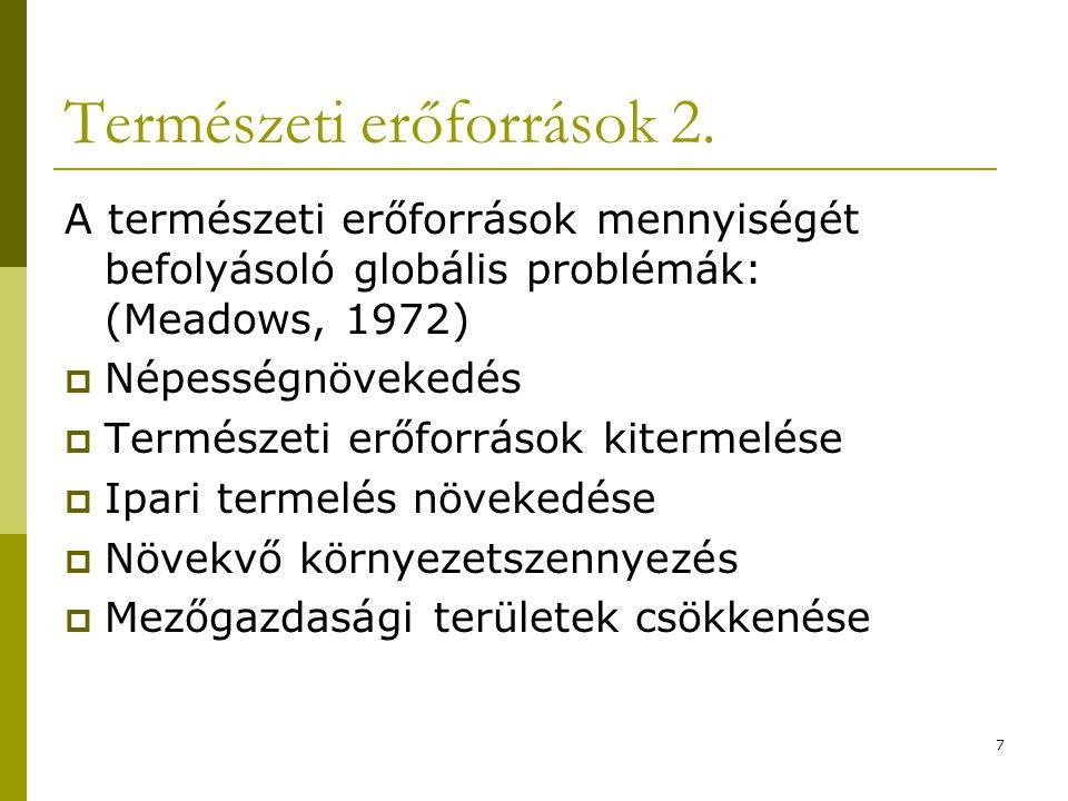 7 Természeti erőforrások 2.