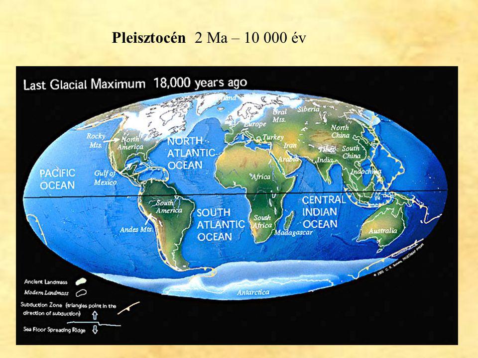 35 Pleisztocén 2 Ma – 10 000 év