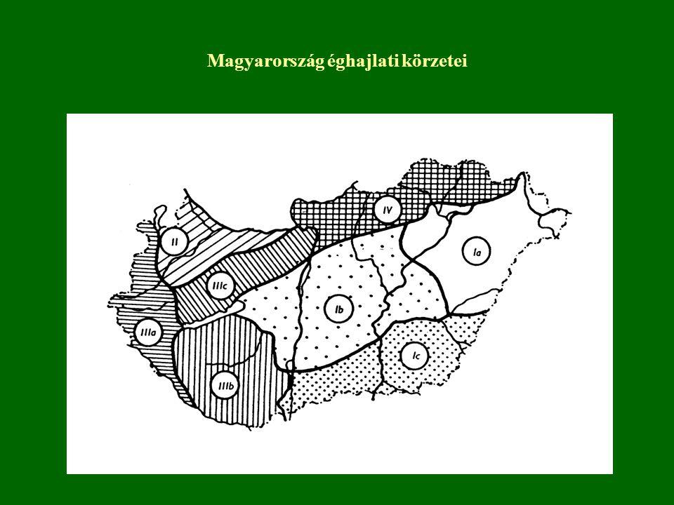 Magyarország éghajlati körzetei