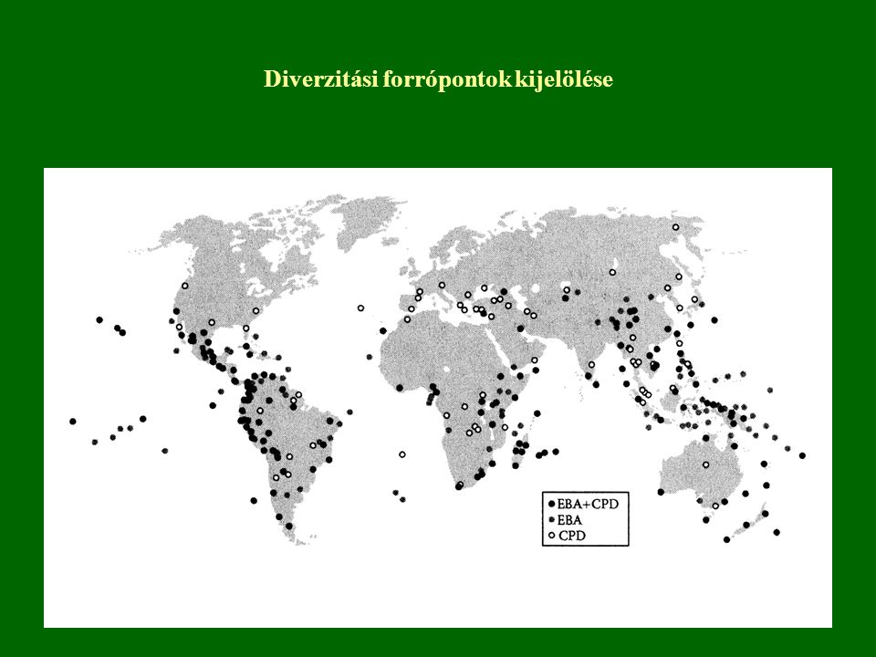 Diverzitási forrópontok kijelölése