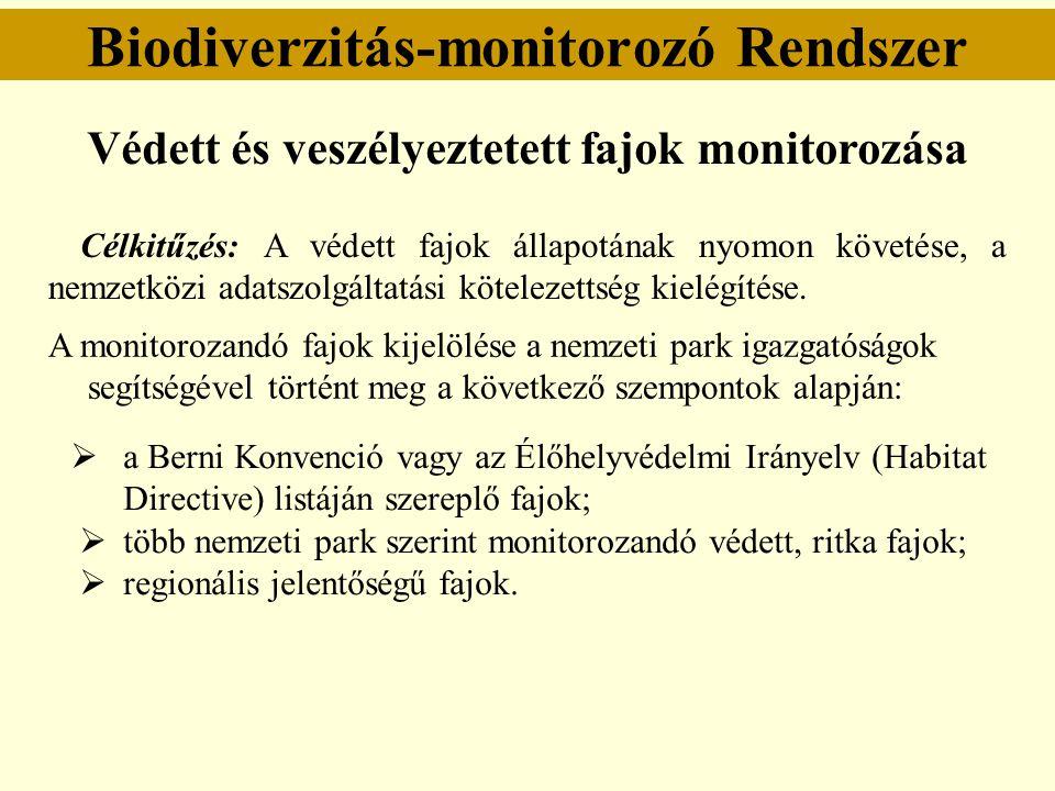 """Védett fajok monitorozása """"B mintavételi típus Areatérkép készítése minden ismert lelőhelyen."""