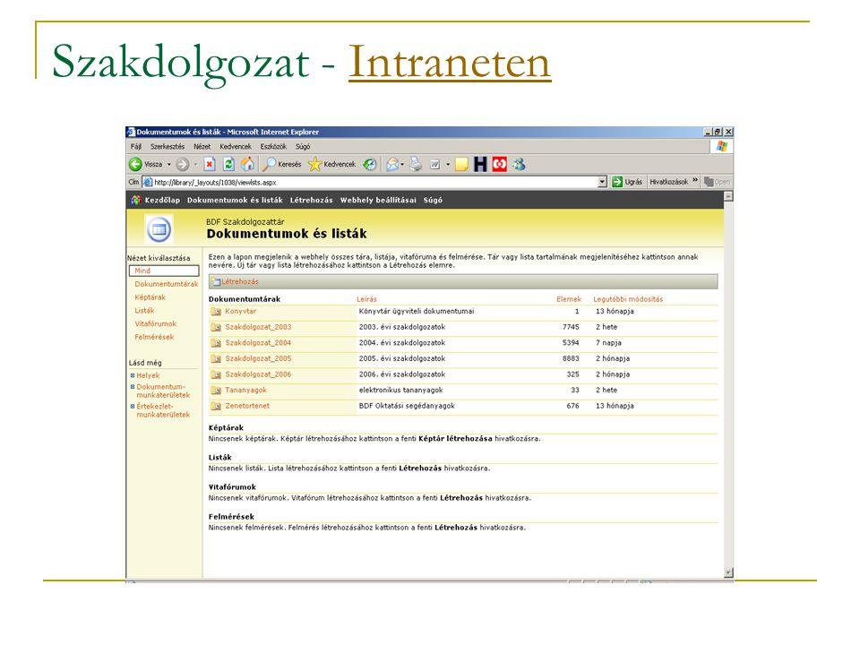 Szakdolgozat - IntranetenIntraneten