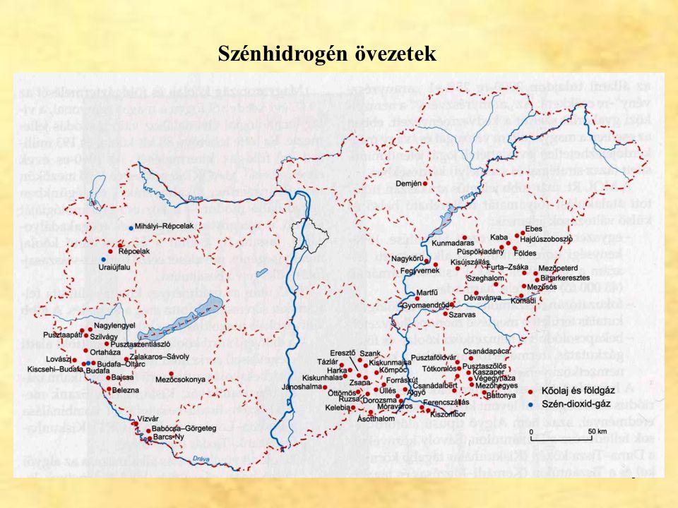 30 Ajka Felső-kréta barnakőszén A kőszéntelepek három telepcsoportban jelennek meg.
