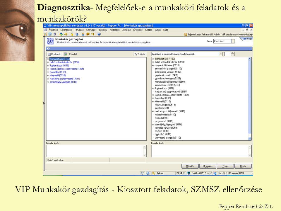 Diagnosztika - Megfelelőek-e a munkaköri feladatok.