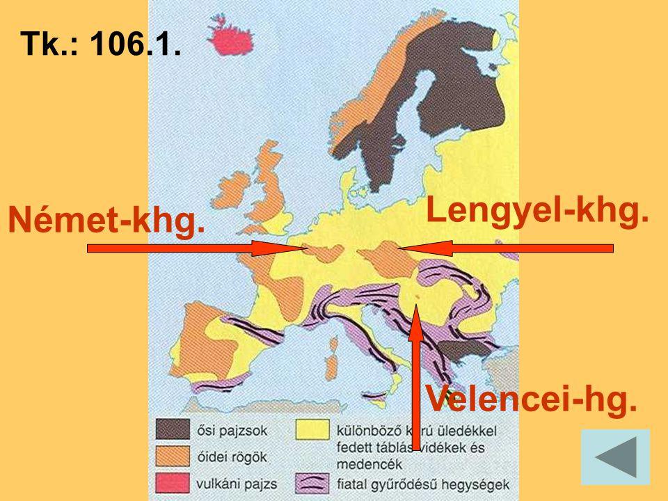 Ősföldek ma a kontinenseken Tk.: 12.1. Atl.: 69.
