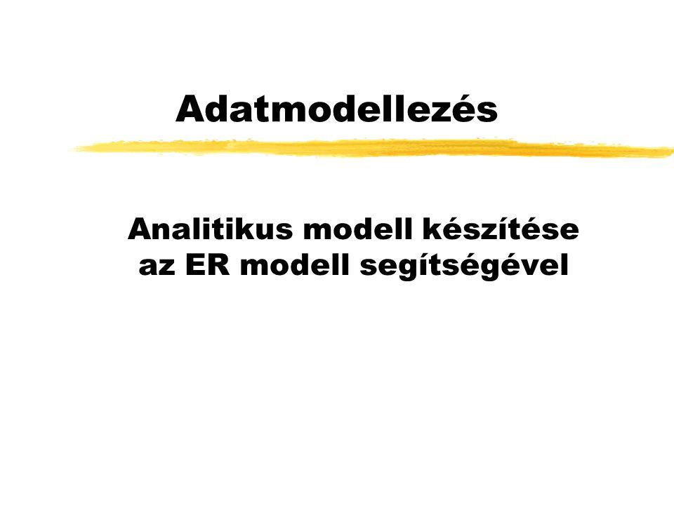 Adatmodellezés Analitikus modell készítése az ER modell segítségével