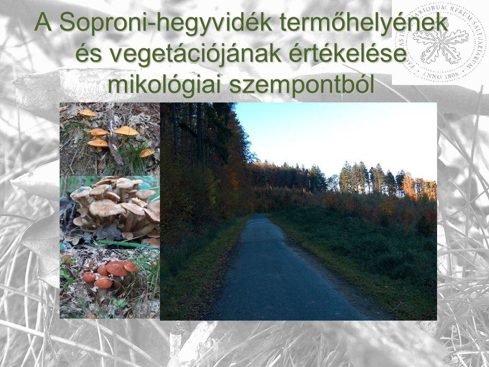 A Soproni-hegyvidék nagygombái A Soproni-hegyvidék nagygombái - Eddigi eredmények a Soproni-hegyvidékről (Forrás:http://www.huh.harvard.edu/libraries/mycology/1601.htm) (Forrás:http://www.nyme.hu/fileadmin/dokumentumok/emk/novenytan/novenytan/kiadvanyok/tilia/Tilia_06.pdf)
