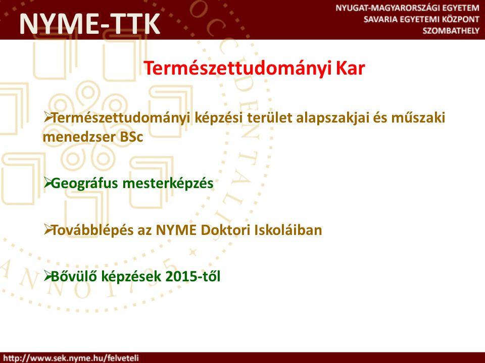 Információforrások http://www.felvi.hu http://www.sek.nyme.hu/felveteli felveteli@sek.nyme.hu