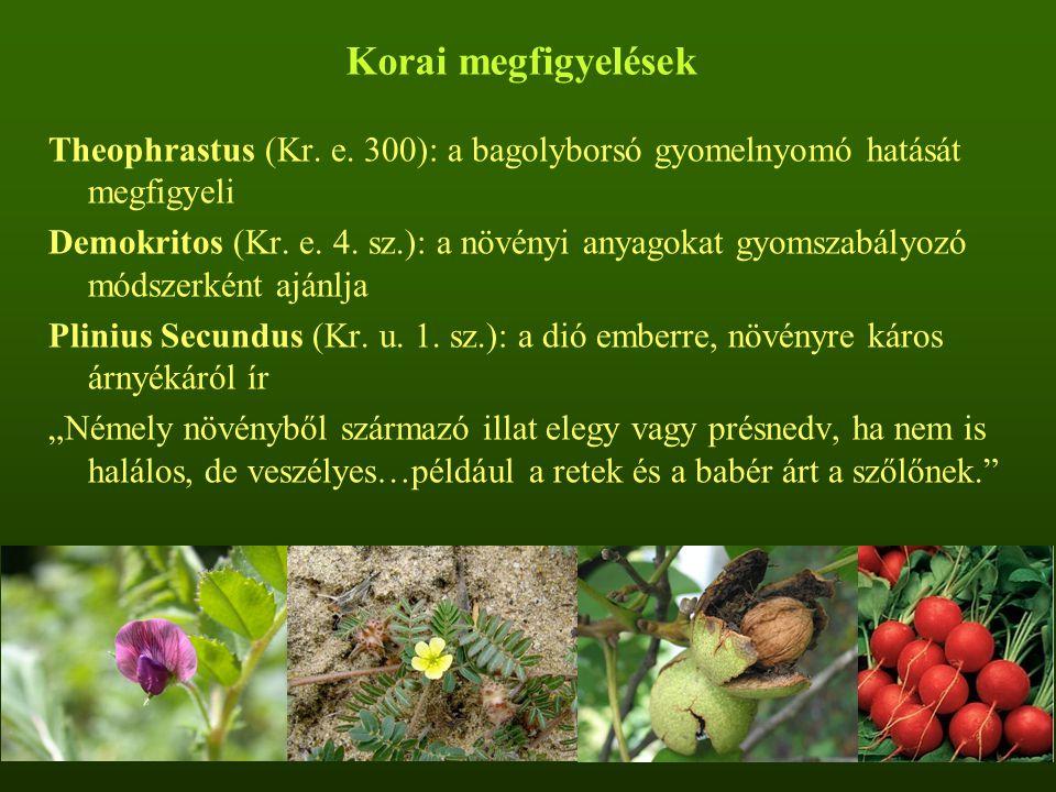 Az allelopátia alkalmazása az erdészetben - Allelokemikáliák előállítása - Allelopatikus fajok irtása - Allelopatikus lágyszárú fajok vetése az aljnövényzetbe: veres csenkesz, tarka koronafürt, szarvaskerep, csomós ebír - Allelopatikus növényi részek keverése a talajba: árpa-, rozs- és búzaszalma a málna terjedésének megakadályozására - Mikorrhizált csemeték ültetése
