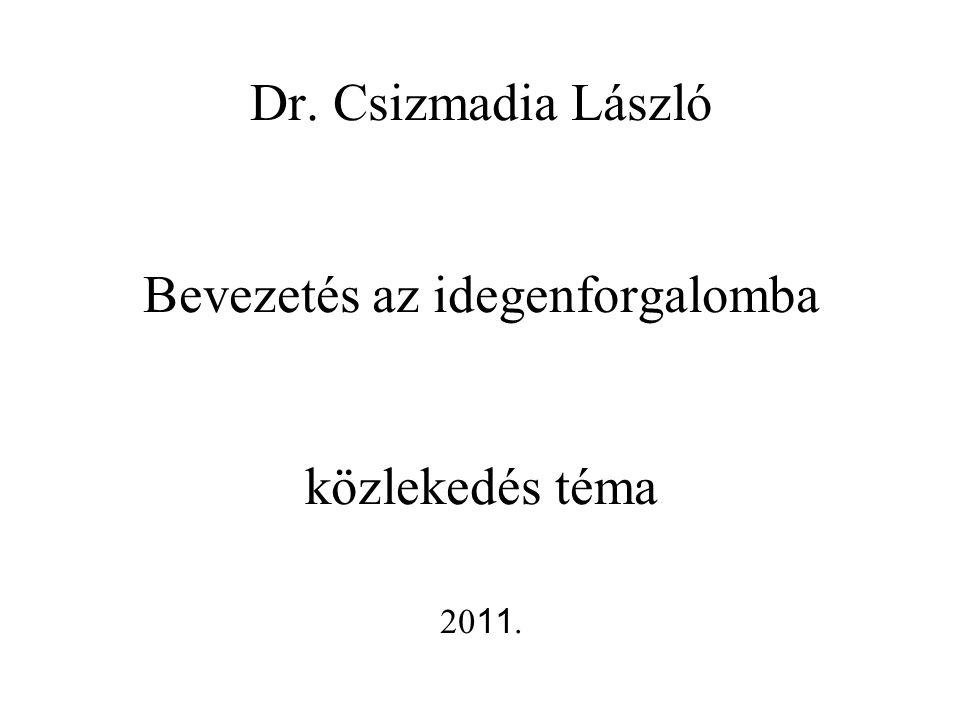 Dr. Csizmadia László Bevezetés az idegenforgalomba közlekedés téma 20 11.