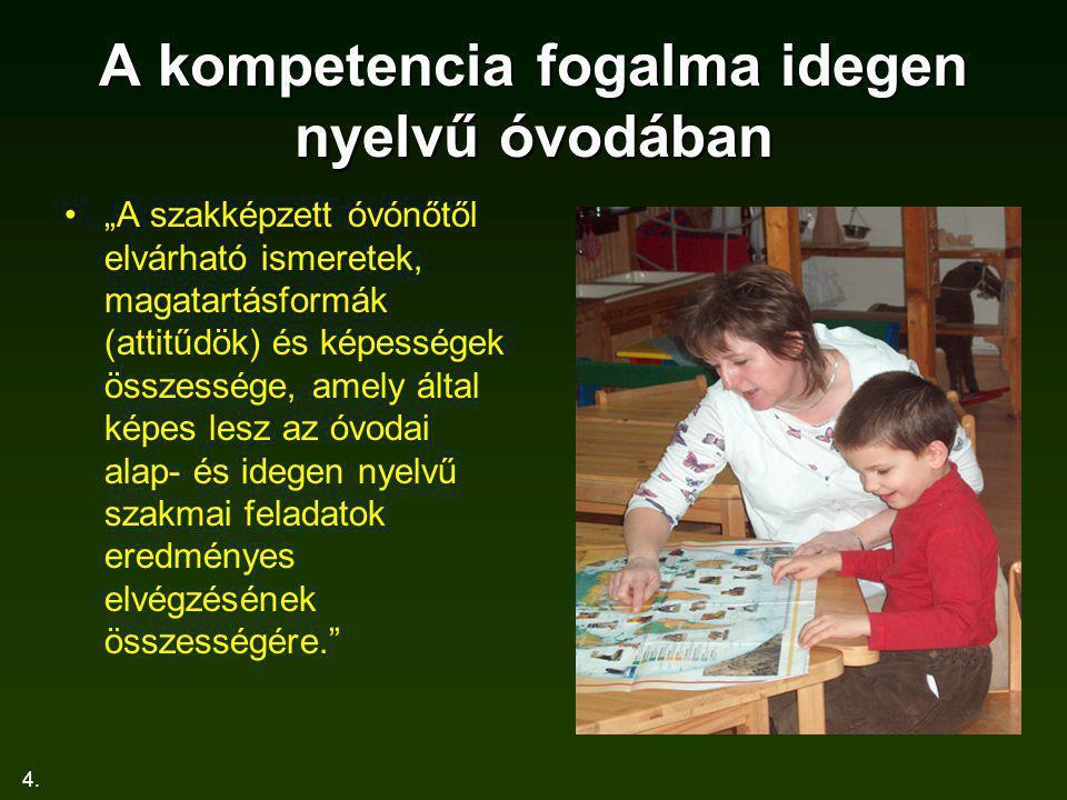 25.I. Elemzés Belekezdjünk. Van-e a nyelvet megfelelő szinten beszélő óvónő.