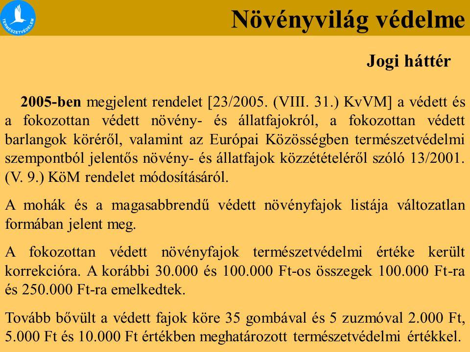 A 18/2008.(VI. 19.) KvVM rendelet alapján 3 új védett zuzmó-faj lett.