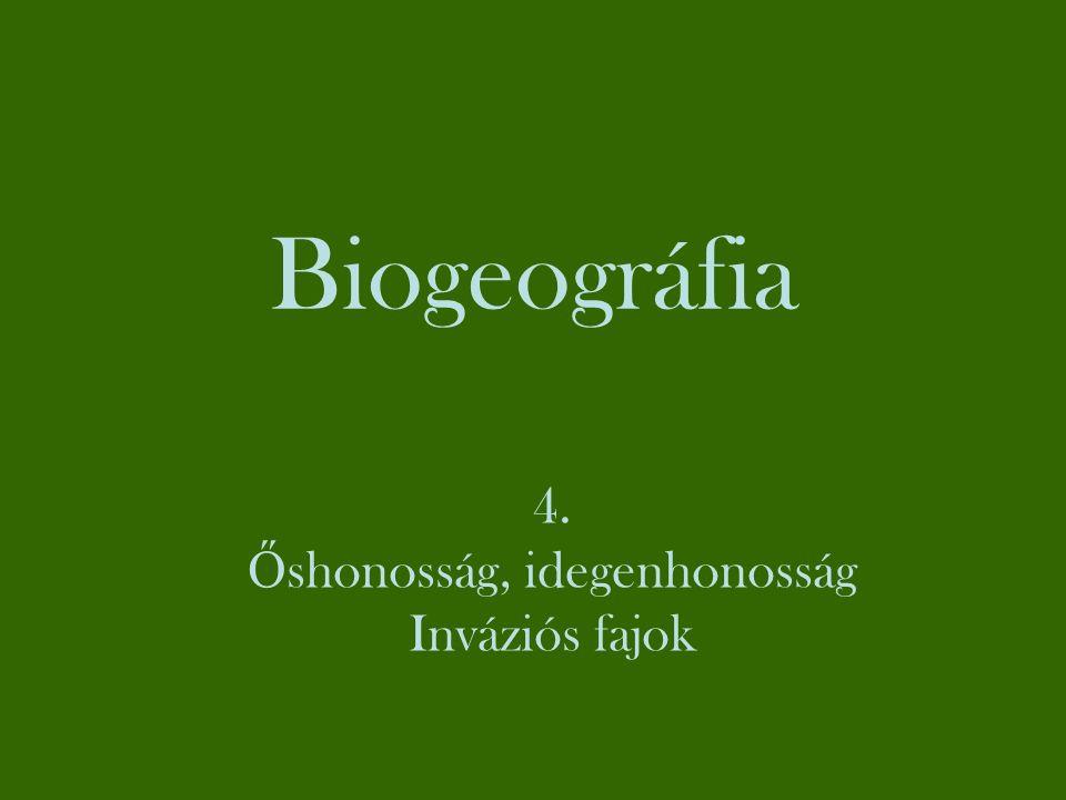 Őshonosság (az északi mérsékelt övben) Az őshonosság biogeográfiai-vegetációtörténeti kategória.