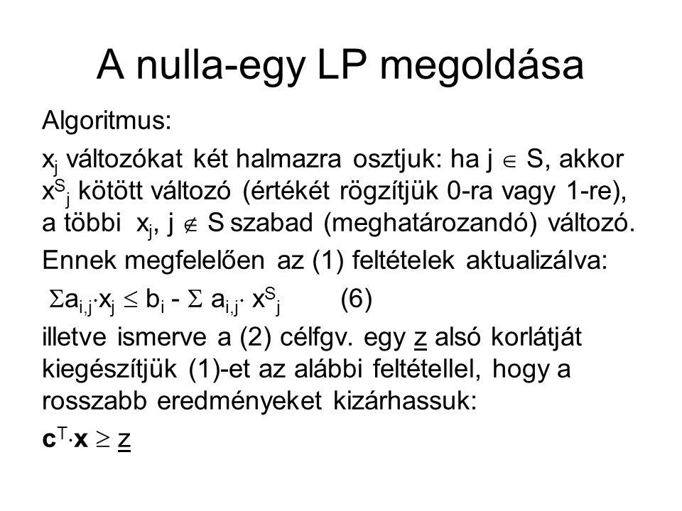 A nulla-egy LP megoldása 3.