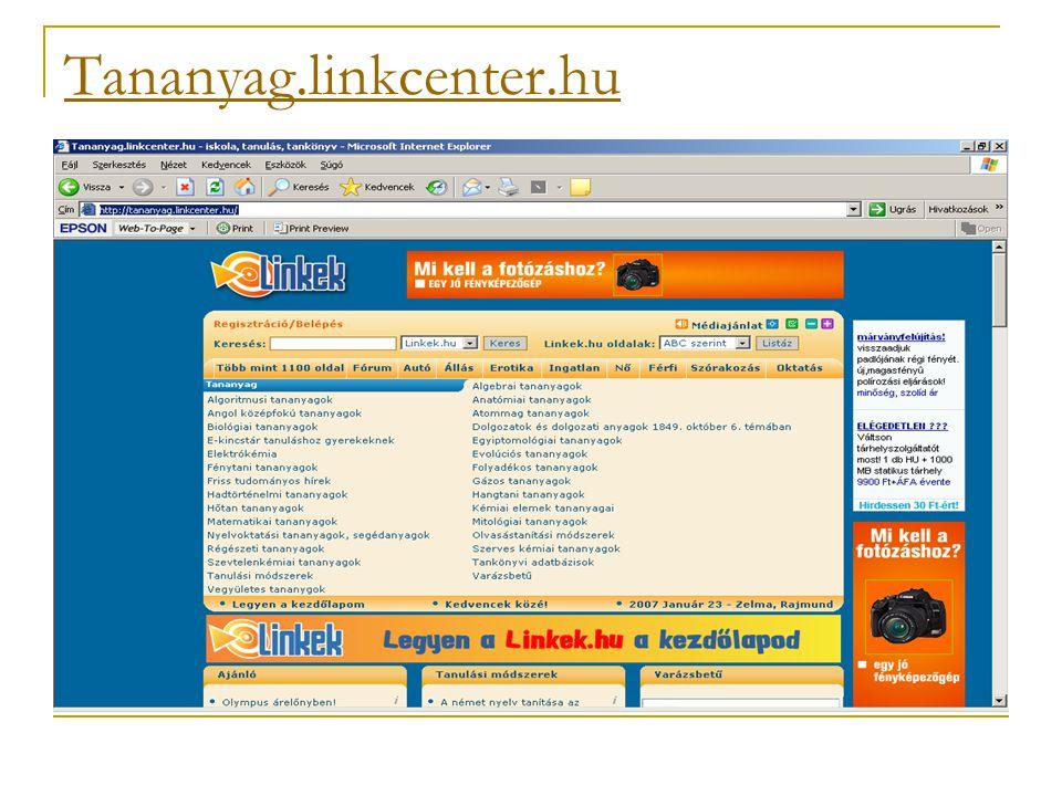 Tananyag.linkcenter.hu