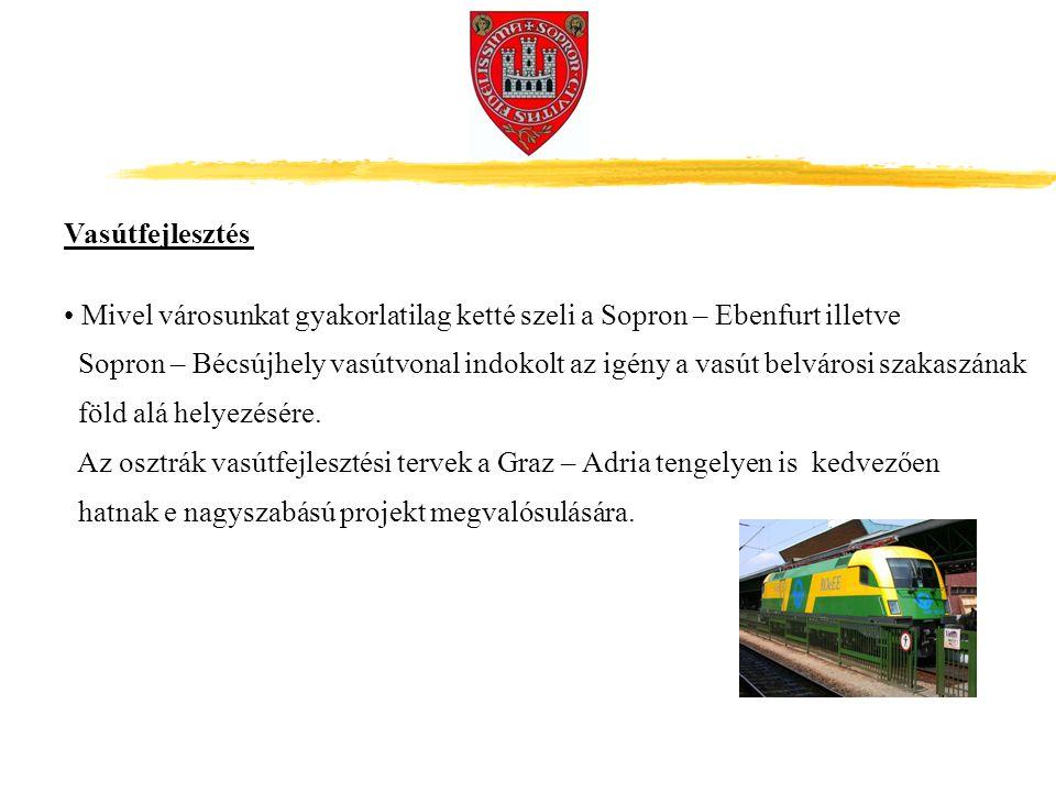 Mivel városunkat gyakorlatilag ketté szeli a Sopron – Ebenfurt illetve Sopron – Bécsújhely vasútvonal indokolt az igény a vasút belvárosi szakaszának föld alá helyezésére.