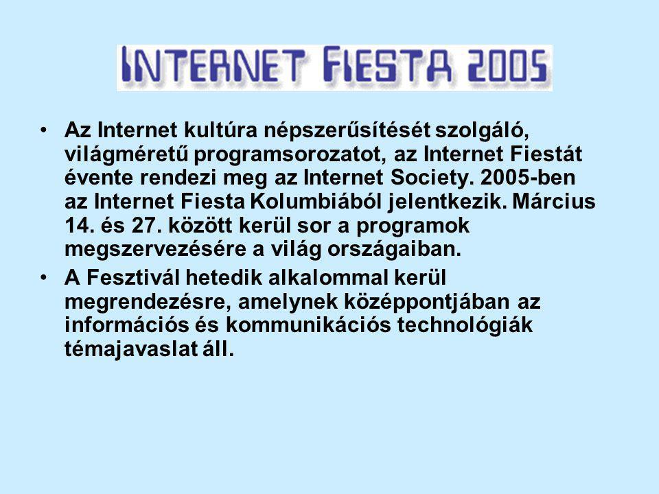 Az Internet kultúra népszerűsítését szolgáló, világméretű programsorozatot, az Internet Fiestát évente rendezi meg az Internet Society.