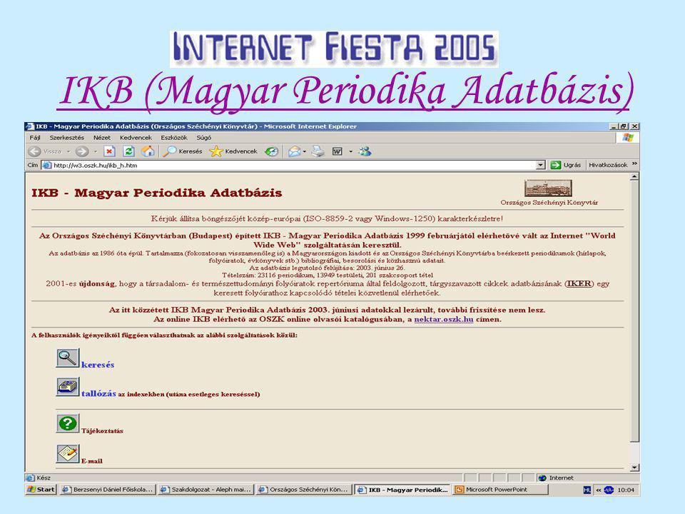 IKB (Magyar Periodika Adatbázis)