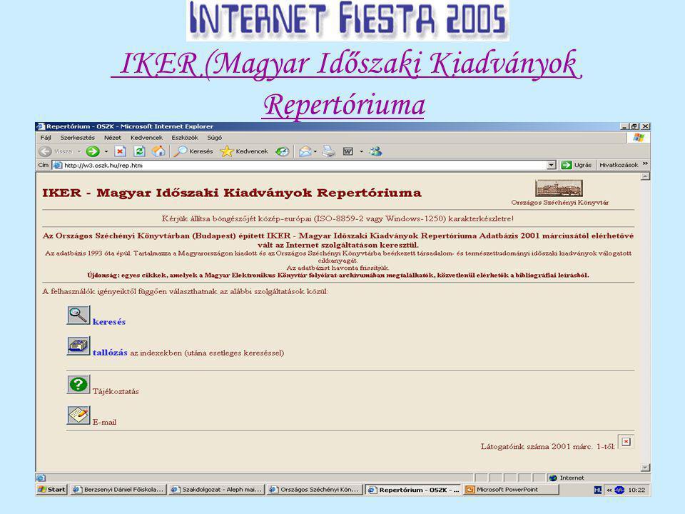 IKER (Magyar Időszaki Kiadványok Repertóriuma