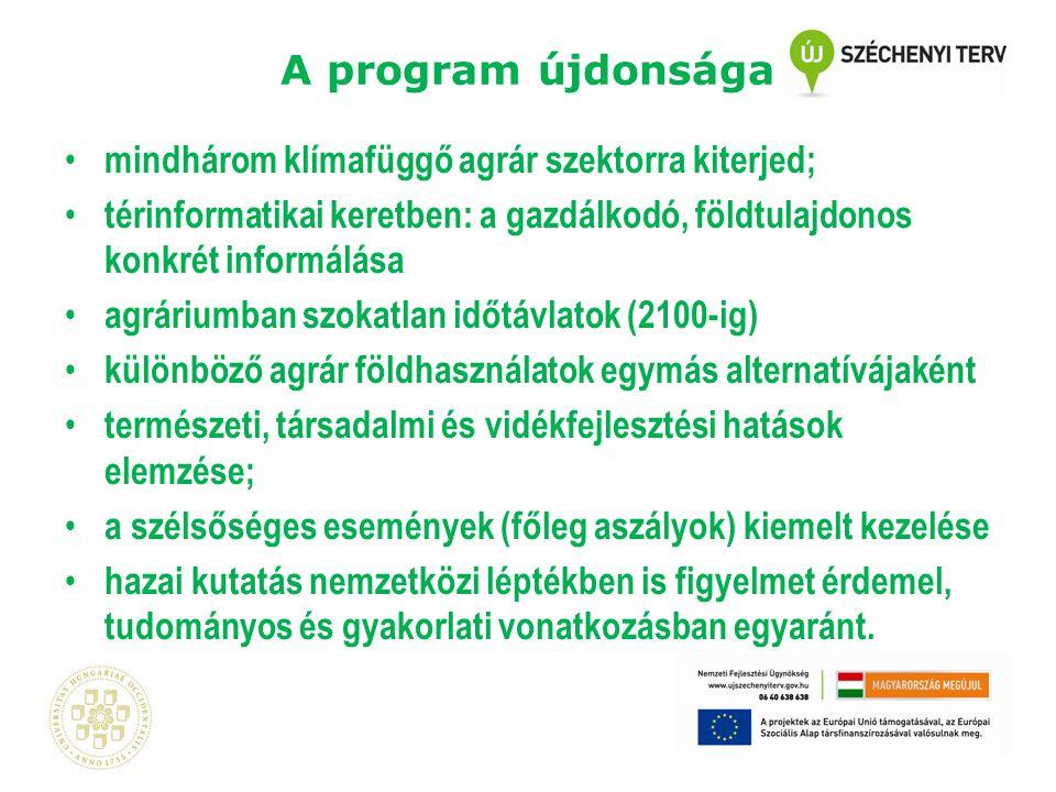 """Az Agrárklíma projekt felépítése """"A alprogram: Dr."""