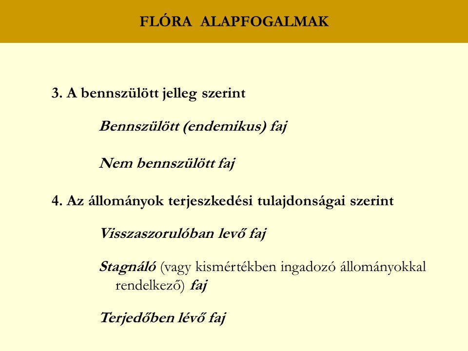 FLÓRA ALAPFOGALMAK 3.
