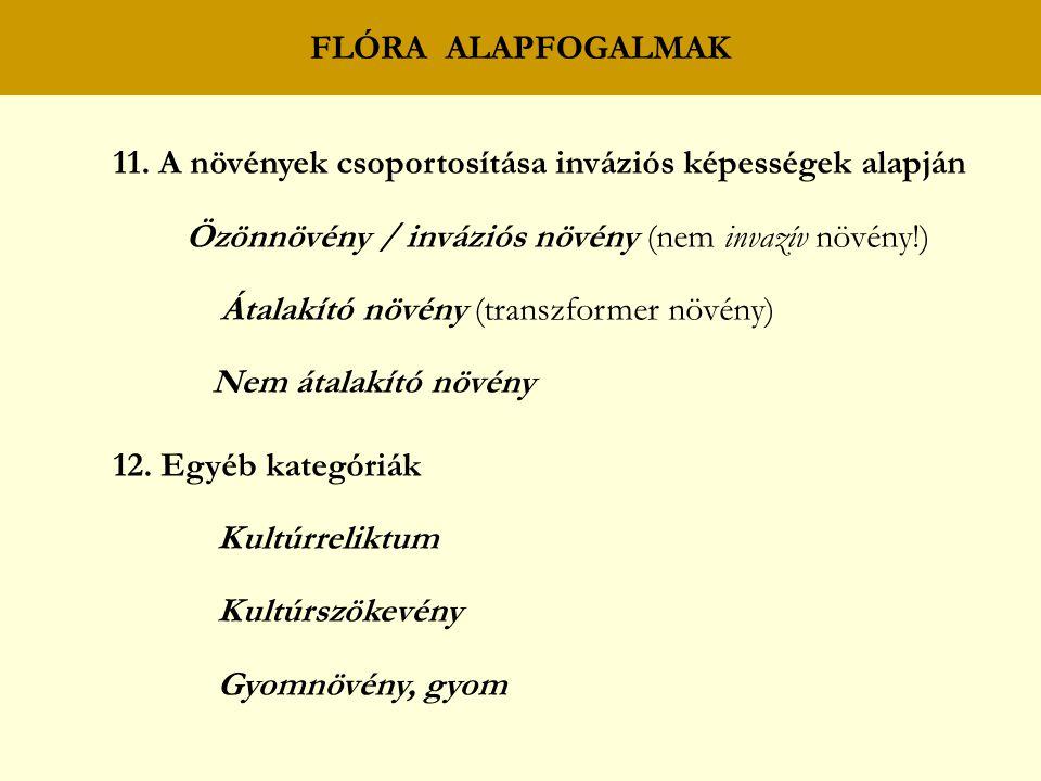 FLÓRA ALAPFOGALMAK 11.
