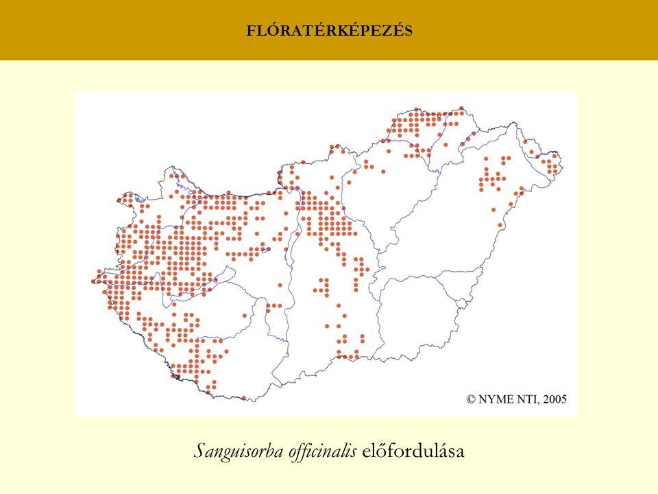 FLÓRATÉRKÉPEZÉS Sanguisorba officinalis előfordulása