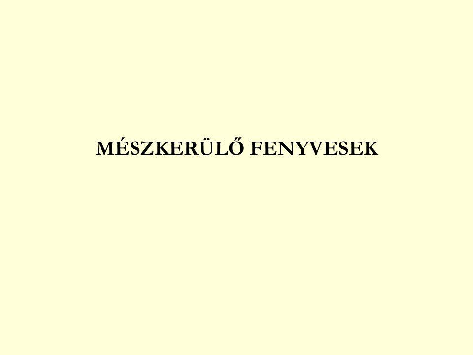 MÉSZKEDVELŐ FENYVESEK sások – füvek deres sás (Carex flacca) tarka nádtippan (Calamagrostis varia) A, K fehér sás (C.