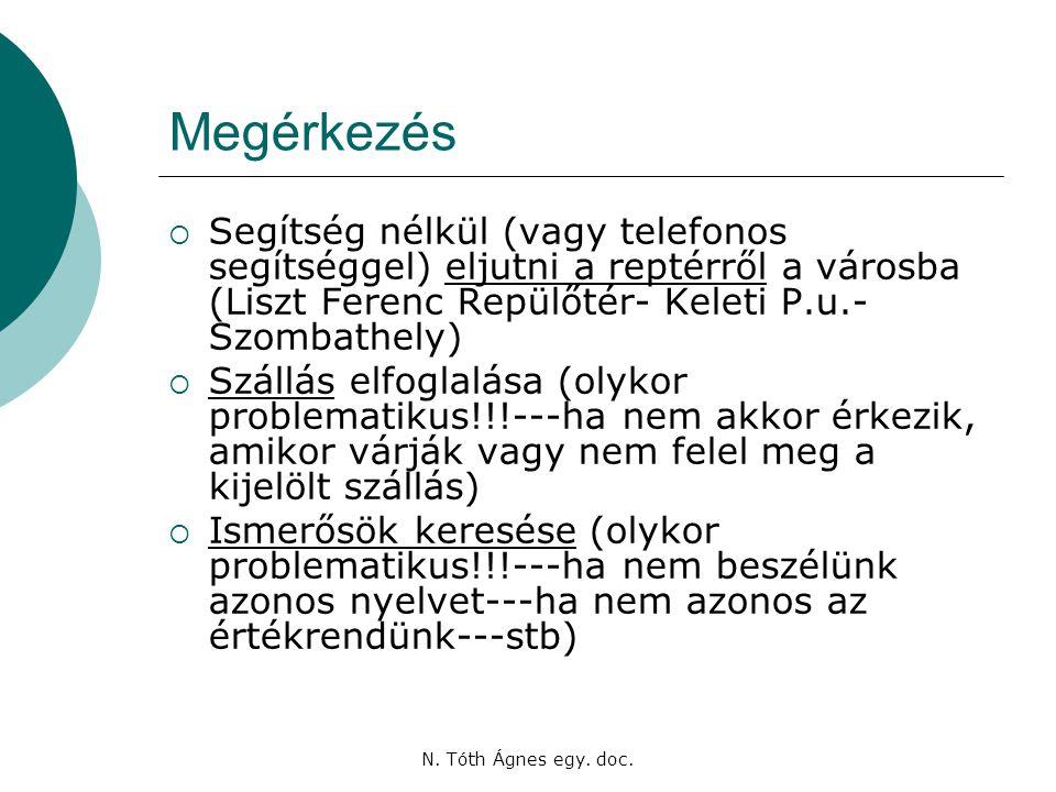 N. Tóth Ágnes egy. doc.
