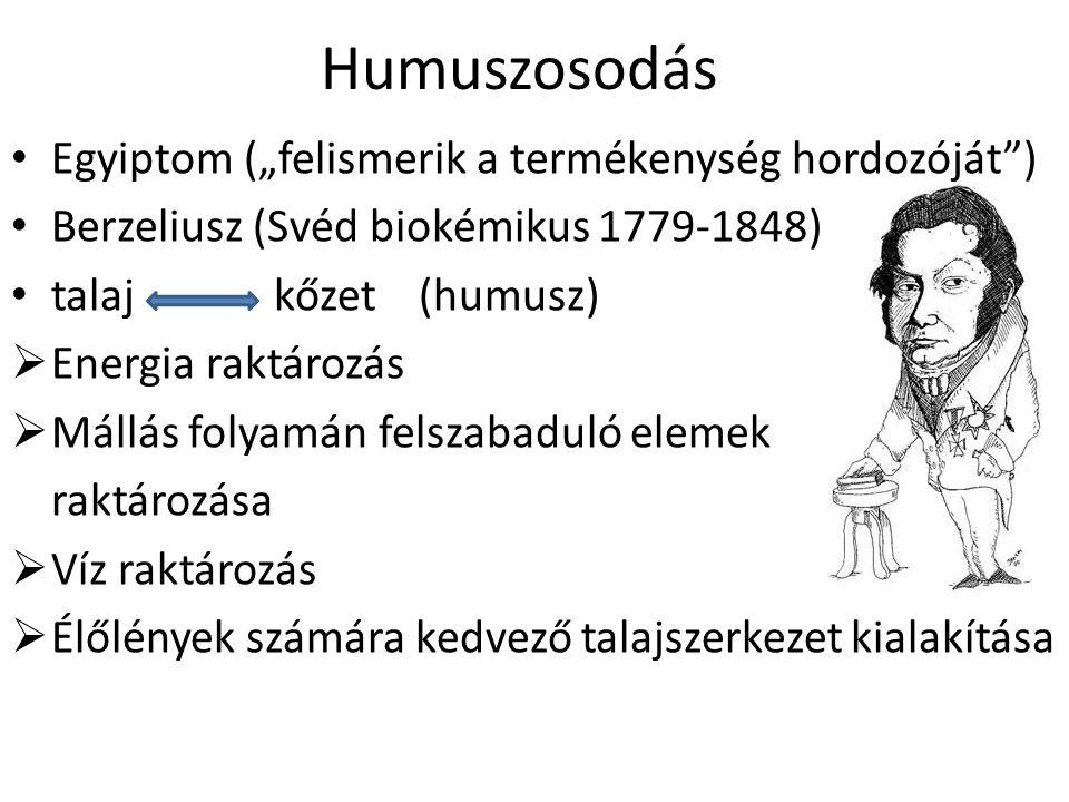 """Egyiptom (""""felismerik a termékenység hordozóját"""") Berzeliusz (Svéd biokémikus 1779-1848) talaj kőzet (humusz)  Energia raktározás  Mállás folyamán f"""