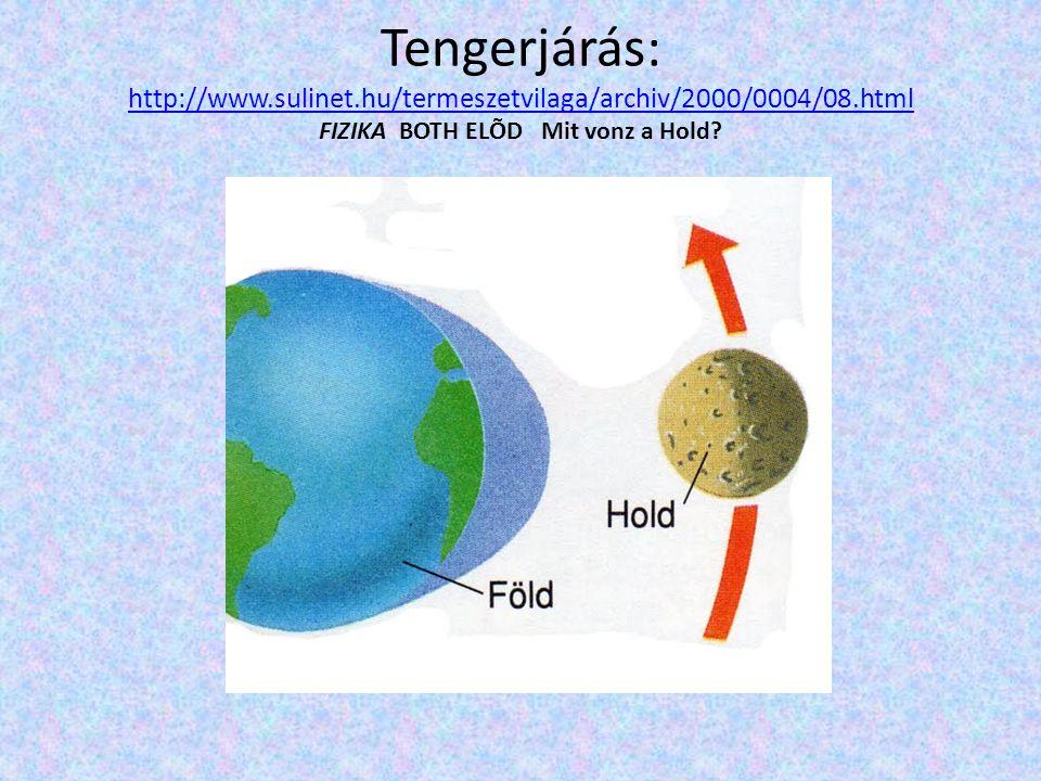 Tengerjárás: http://www.sulinet.hu/termeszetvilaga/archiv/2000/0004/08.html FIZIKA BOTH ELÕD Mit vonz a Hold? http://www.sulinet.hu/termeszetvilaga/ar