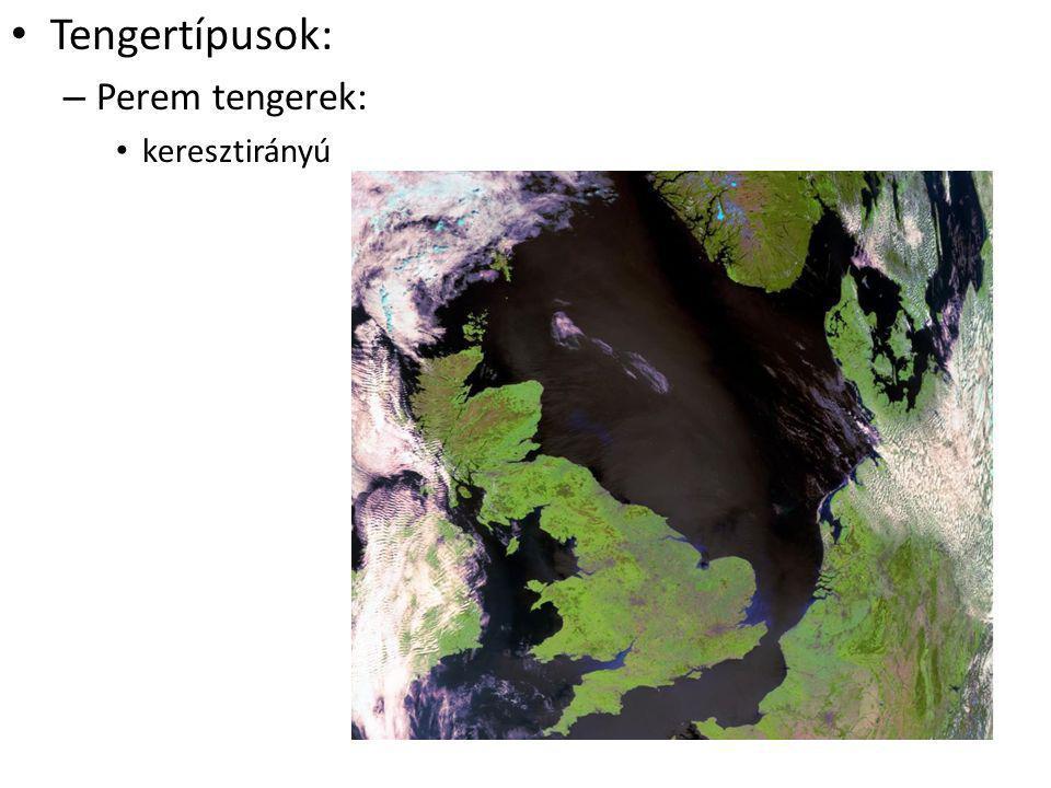 Tengertípusok: – Perem tengerek: keresztirányú
