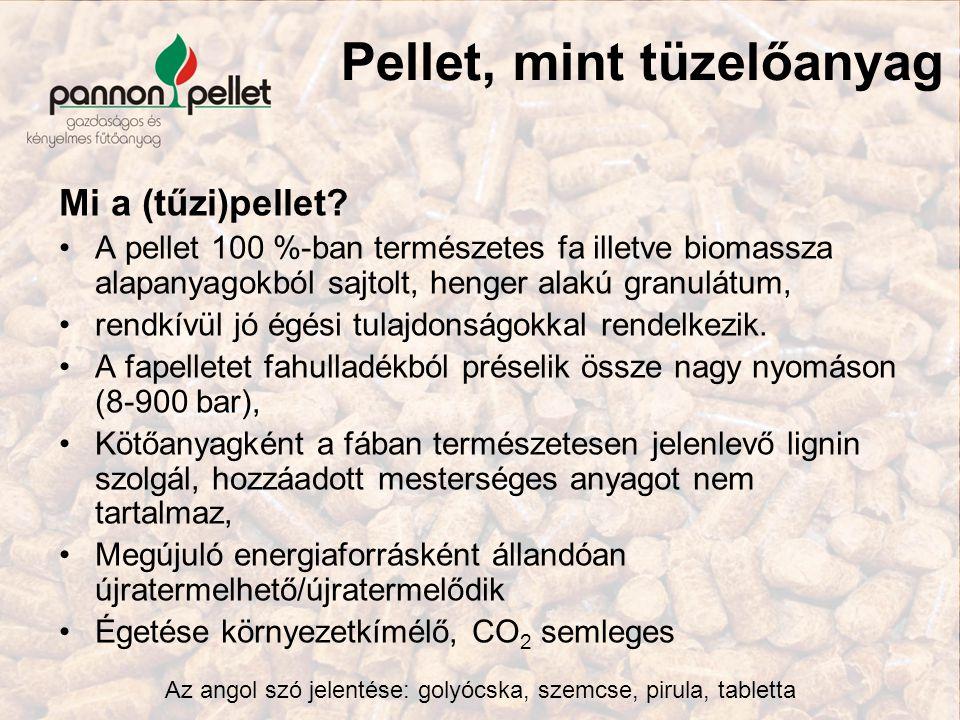 Pellet, mint tüzelőanyag Mi a (tűzi)pellet? A pellet 100 %-ban természetes fa illetve biomassza alapanyagokból sajtolt, henger alakú granulátum, rendk