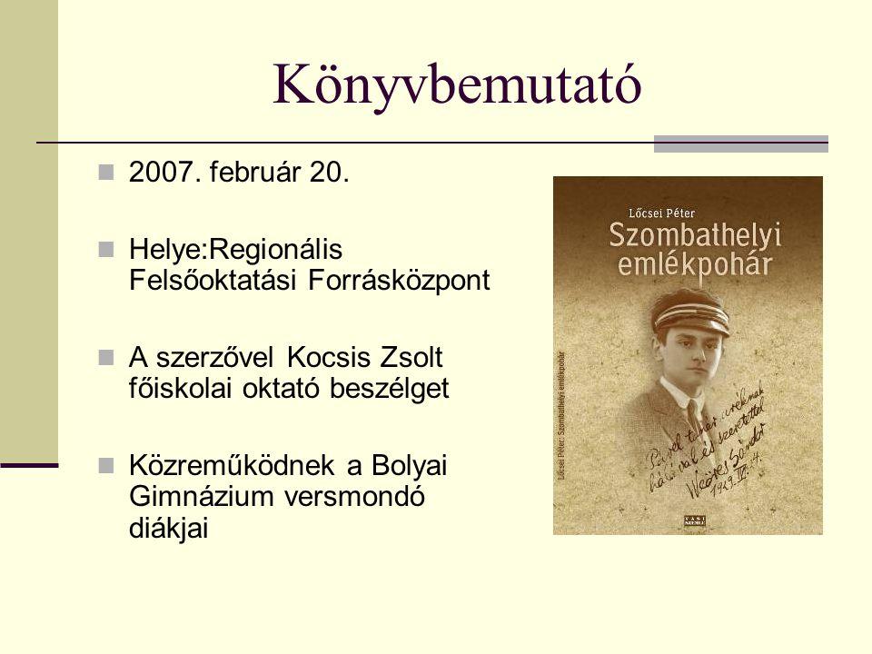 Könyvbemutató 2007. február 20.