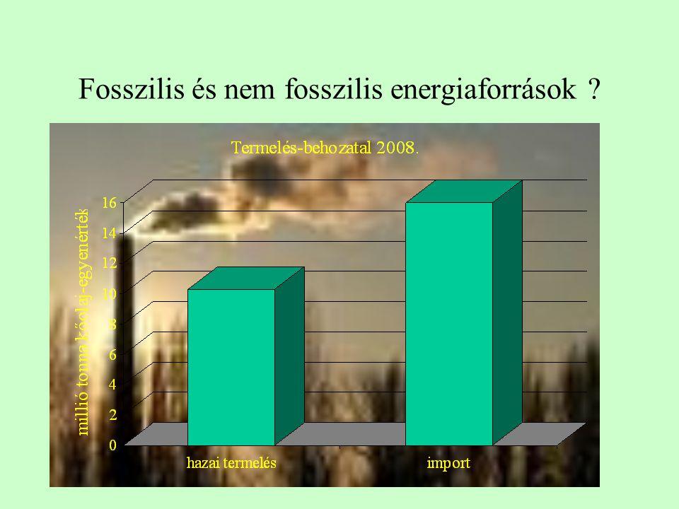 Fosszilis és nem fosszilis energiaforrások ?