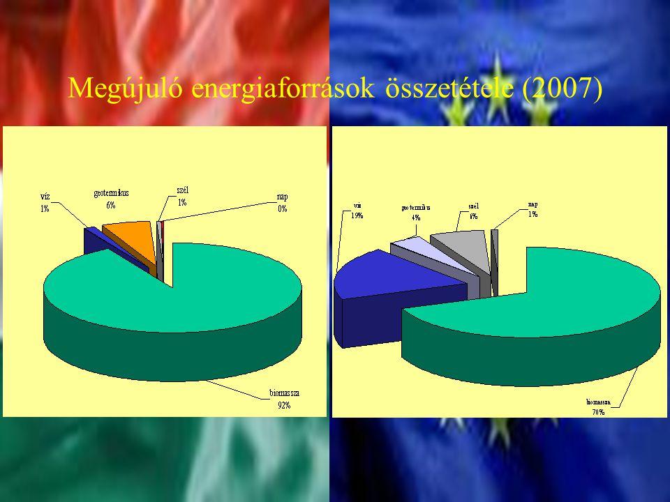 Megújuló energiaforrások összetétele (2007)