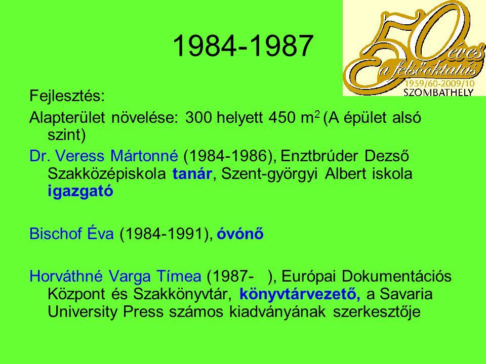 1988 - 1989 1988 A könyvtár statikailag életveszélyessé vált.
