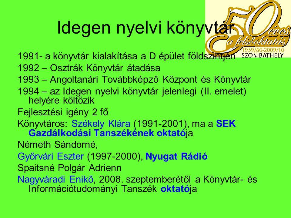 2000 után 2000 - Berzsenyi Dániel Főiskola - névváltozás 2002.
